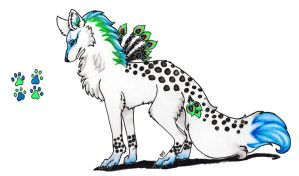 ..:: peacock wolf adopt ::.. (CLOSED) by Ashenee