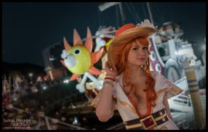 Nami and the Thousand Sunny by Lumis-Mirage