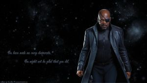 Nick Fury wp by ViraMors