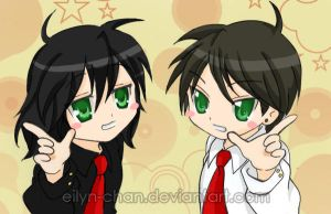 Lucky Gerard and Frank by Eilyn-Chan