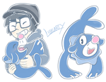 Popplio Doodles by Libearty