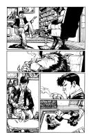 Dylan Dog and a  Werewolf by andrecoelhoart