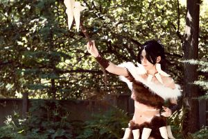 Nidalee Costume 3 PAX 2011 by GinRyu