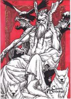 Odin Sketch Card by JesterretseJ