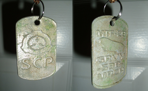 Personalized SCP Dogtag for MTF - Z9 by ShadeJackrabbit