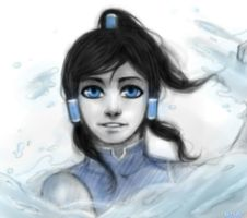 Korra.Speed paint - practice. by Kihiart