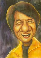 Jackie Chan caricature by xiauyinn