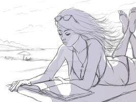 Beach Girl (Title WIP) - Preliminary Stages by bgates87