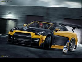 Nissan GTR35 by edcgraphic