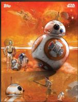 Star Wars: The Force Awakens BB-8 promo poster by Artlover67
