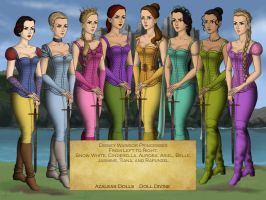 Disney Warrior Princesses by nickelbackloverxoxox