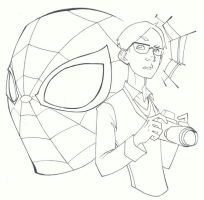 sketchy : Peter Parker by KidNotorious