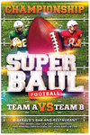 Superbowl Fooball Flyer Template by koza30