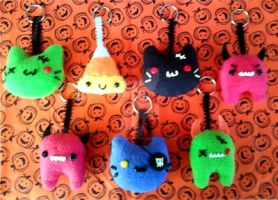 Halloween Plush Key Charms by Brutemusandfriends