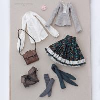 Outfit for November doll by striped-box
