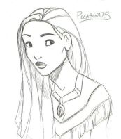 Portrait of Pocahontas by kuabci