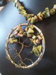 Unakite Round Wire Tree with Bronze Bark by BacktoEarthCreations