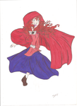 Little red riding hood (merida) by winterStorm42