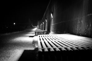 Snowy bench by peterb200295