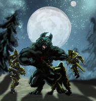 Guardsmen Vs Werewolf by CorporalDeath49