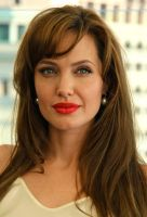 Angelina Jolie close up by Rogue-alien