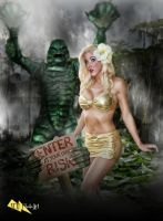 Creature From The Black Lagoon PinUp by megmurrderher