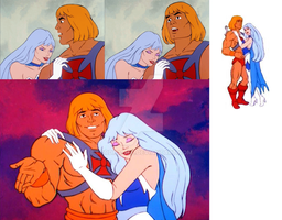 He-Man and Frosta by LordKal-El