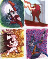 Marvel Greatest Heroes cards 12 by TomKellyART