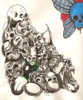skull pile inked by soundscream