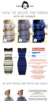 The Dress, what color do you see? THE ANSWER by CharlyChive