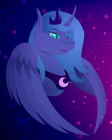 Nightmare Luna by Midnight6-6-6