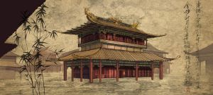 Qin Tomb Exterior Building by Rusty001
