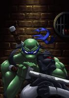 Leonardo vs Foot Ninja by SPetnAZ1982