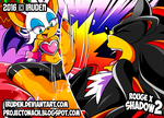 Rouge x Shadow 2 - Footjob Commission by iruden