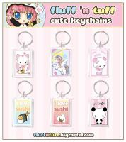 Cute Keychains by Fluffntuff