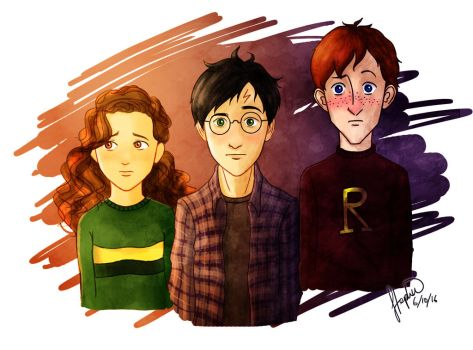 The Golden Trio: Confused  by StephWSM