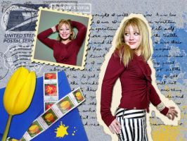 Hilary Duff Collage Wallpaper by thelfie