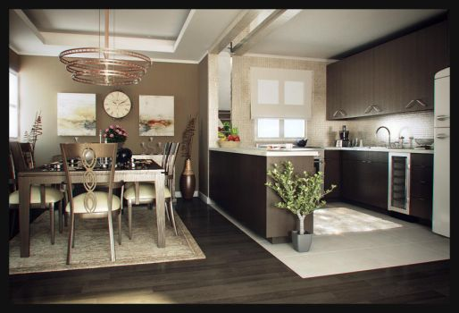 Contemporary Dining Space by Av3n93r
