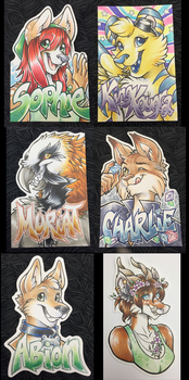 Conbadges from 2015 - part02 by dizziness