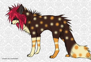 Scene Wolf Adoptable -OFFER BETWEEN 50-80 PTS- by Twine-Adopts