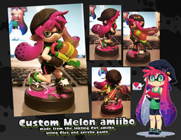 Custom Melon amiibo by Chibi-Nuffie