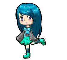 Rika chibi request for rainbowscythe4 by sessylover