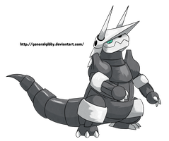 Sugimori Style= Ashes the Aggron by GeneralGibby