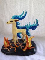 Shiny ponyta sculpture by griffin126