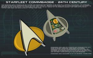 Starfleet Commbadge [24th Century] Tech Readout by unusualsuspex
