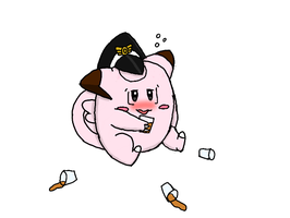 Drunk Colonel Clefairy by LunaClefairy
