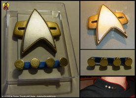 Star Trek Magnetic Communicator Badge Prop by Euderion