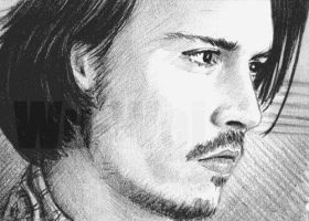 Johnny Depp mini-portrait by whu-wei