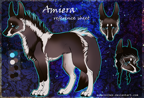 Amiera reference sheet by Exquisites