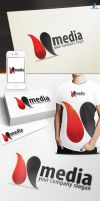 Nmedia logo for SALE ! by vasiligfx